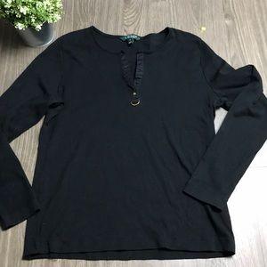 LAUREN Ralph Lauren womens longsleeve shirt